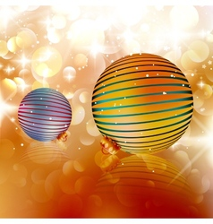 Christmas balls on abstract background vector image