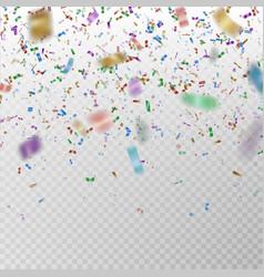 color glitter confetti carnaval paper tins vector image