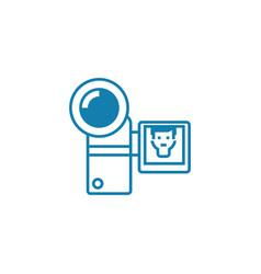 compact video camera linear icon concept compact vector image