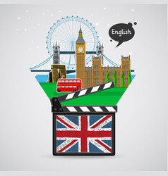 Concept of learning languages study english vector