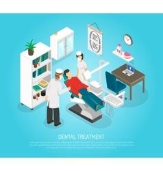 Dental checkups procedure treatment isometric vector