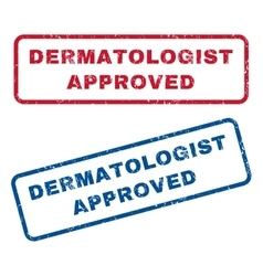 Dermatologist Approved Rubber Stamps vector