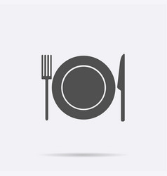 dish fork knife icon isolated on background mode vector image