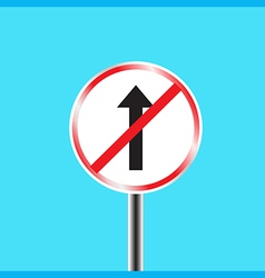 Do not go straight sign vector
