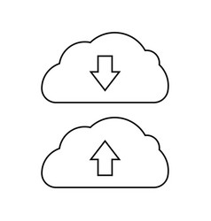 download app icon data cloud transfer black icon vector image
