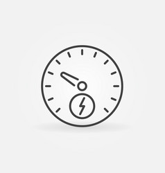 electric car speedometer icon in thin line vector image