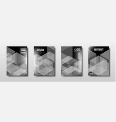 future template design with monochrome polygon vector image