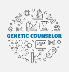 genetic counselor round vector image