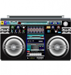 ghetto blaster vector image