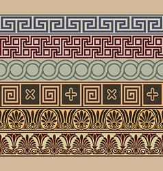 Greek borders vector image