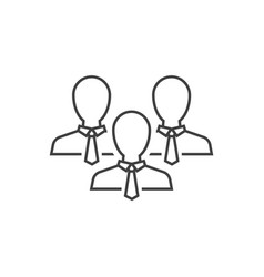 group business people outline icon on white vector image