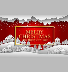 happy new year merry christmas 2019 red background vector image