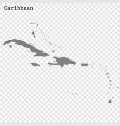 High quality map caribbean vector