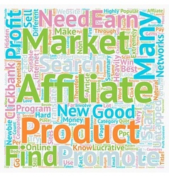 How Earn Money From Untapped Affiliate Markets vector image