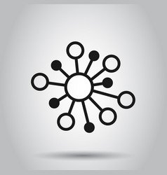 hub network connection sign icon in flat style vector image
