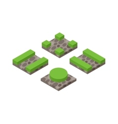 Isometric 3d land agriculture landscape vector