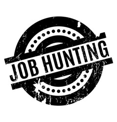 Job hunting rubber stamp vector