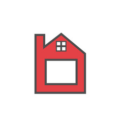letter b home logo icon vector image
