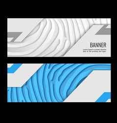 Light paper lines on blue and grey backdrop vector