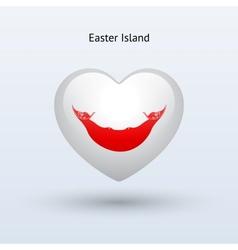 Love easter island symbol heart flag icon vector