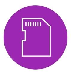 Memory card line icon vector