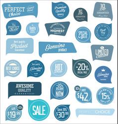 modern blue design sale labels and badges vector image