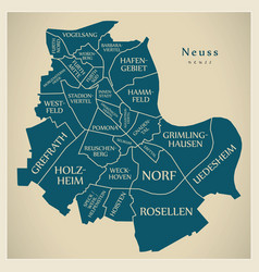 Modern city map - neuss city of germany with vector