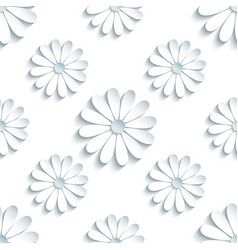 modern seamless pattern with 3d white chamomile vector image