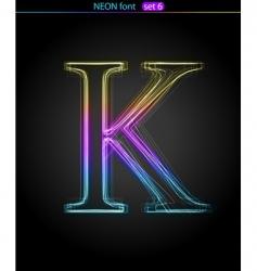 neon letter vector image