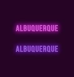 neon name of albuquerque city in usa text vector image