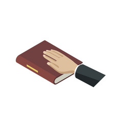 Oath of bible isometric 3d elements vector