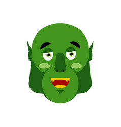 ogre happy emoji goblin merry emotion isolated vector image