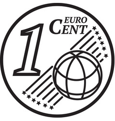 One euro cent coin vector