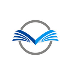 open book education logo vector image