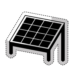 Panel solar isolated icon vector