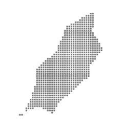 pixel map of isle of man dotted map of isle of vector image