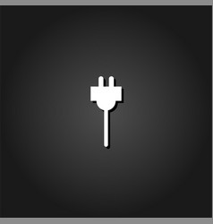 plugs icon flat vector image