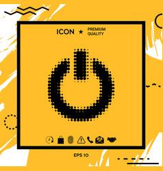 power button - halftone logo vector image