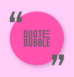 Quote bubble with shadow template vector