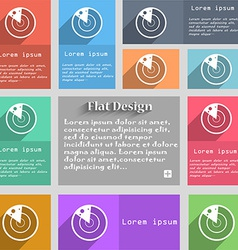 radar icon sign Set of multicolored buttons Metro vector image