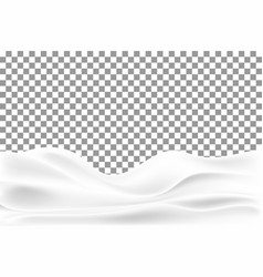 Realistic snowdrift isolated on transparent vector