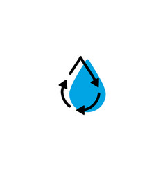 recycle water drop fresh clean logo icon simple vector image