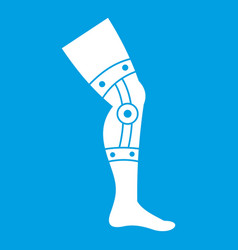 Retentive bandage icon white vector