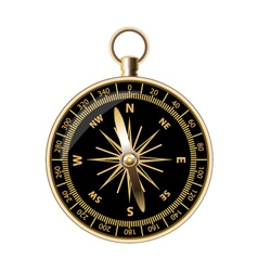 Retro compass for travels and outdoorsman vector