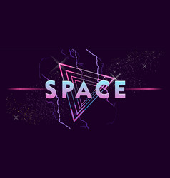 retro wave outer space vaporwave vector image