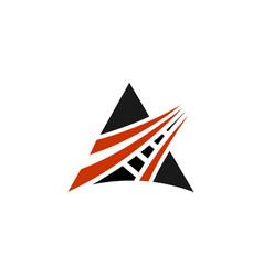 Road logo template vector