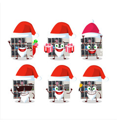 Santa claus emoticons with among us vending vector
