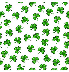seamless texture of clover leaves st patrick s vector image
