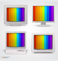 Set of retro computers vector
