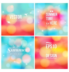 Set of soft blurry backgrounds with bokeh effect vector